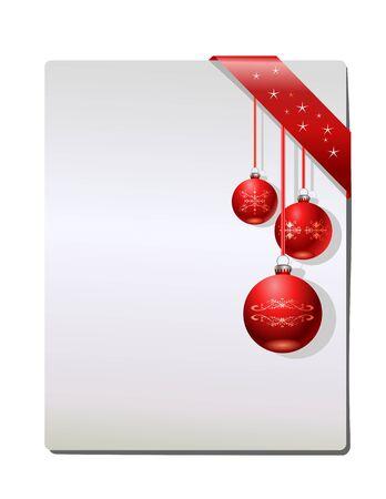 Page cadeau de Noël, vecteur