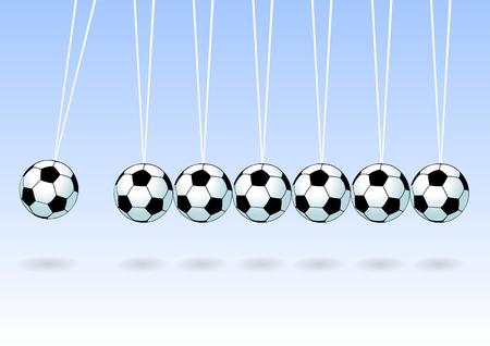 swaying: Balancing soccer ball Illustration