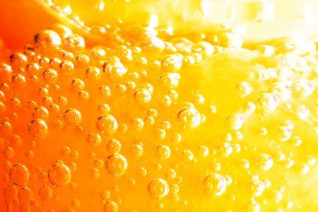 Orange water bubbles ( orange fruit ) Stock Photo - 5898073