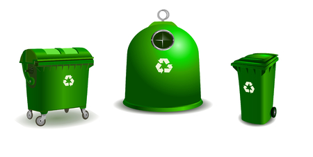 bigger: Recycle bins - two bigger and a small one Illustration