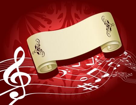 Christmas concert festive background Illustration