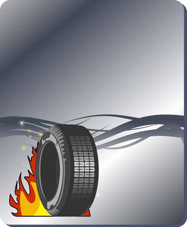 course de voiture: arri�re-plan de conception de voiture  Illustration