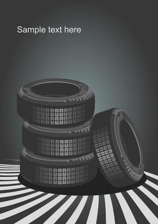 summer tires: Fondo del dise�o de coches  Vectores