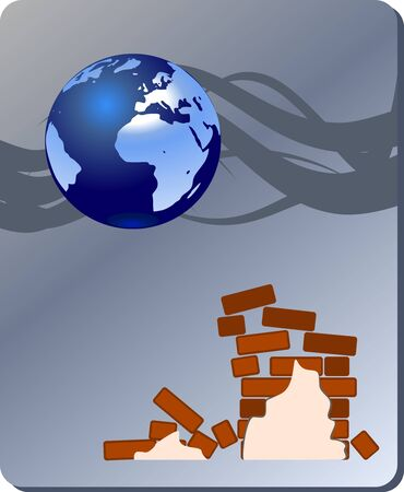 quake: Danger nature - earthquake Illustration