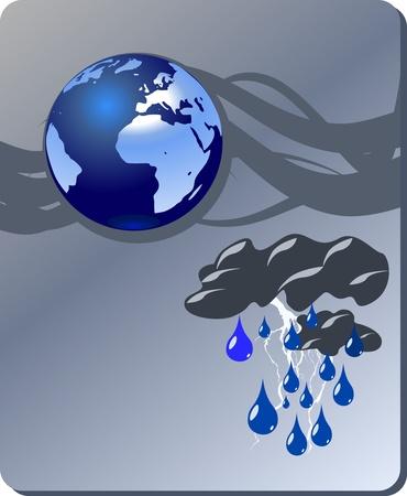 Danger nature - heavy rain Stock Vector - 8266740