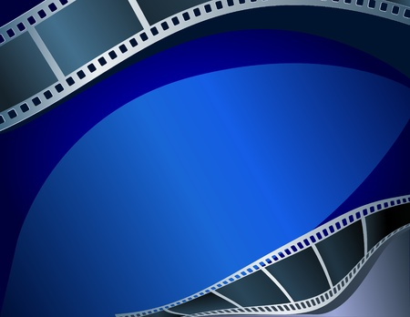 movie screen: Blank film strip Illustration