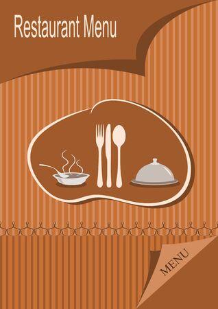 Restaurant menu, vintage design  illustration Vector