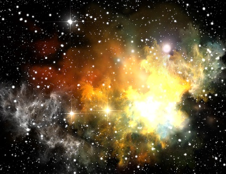 Colorful space nebula ( abstract universe background )