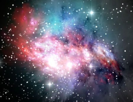 Colorful space nebula ( abstract universe background ) Stock Photo - 8266731