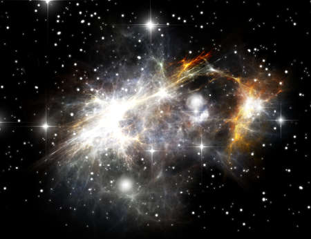 Colorful space nebula ( abstract universe background ) photo