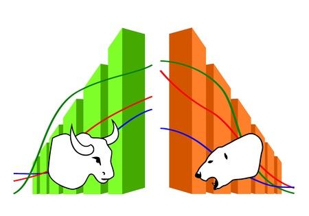 risico analyse: Commodity Stock Illustratie
