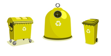 Recycle bins - two bigger and a small one Stock Vector - 8833845