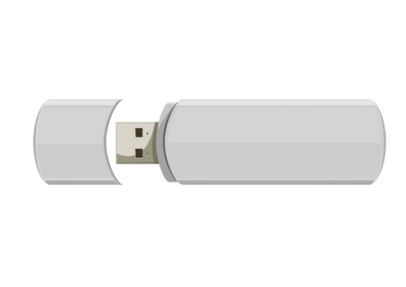 computer memory: Usb flash memory isolated on the white background