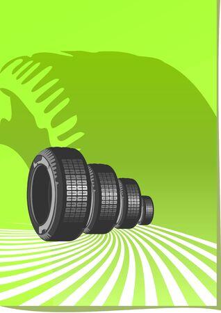 summer tires: Fondo de vector del dise�o de autom�viles Vectores