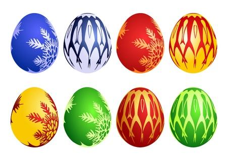 Set of easter eggs, vector illustration Stock Vector - 8982730