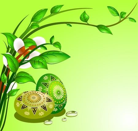 rekolekcje: Jaja wielkanocne z dekoracyjnego, Ilustracja wektora