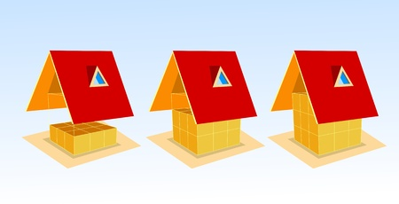 financial condition: House and graph, vector illustration Illustration