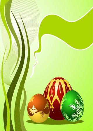 rekolekcje: Jaja wielkanocne z dekoracyjnego, ilustracji Ilustracja