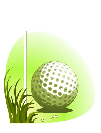 golf background (illustration ) Vector