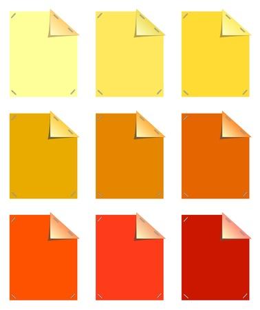 sticky notes: Plak notities in kleur Stock Illustratie