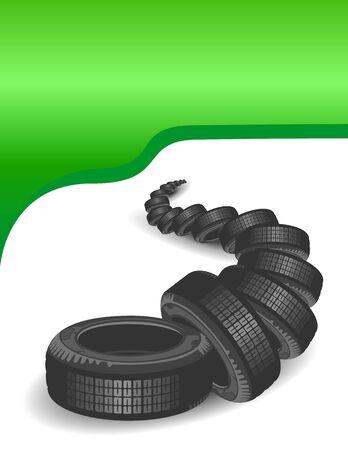 summer tires: Neum�ticos de autom�vil. Fondo del dise�o de autom�viles
