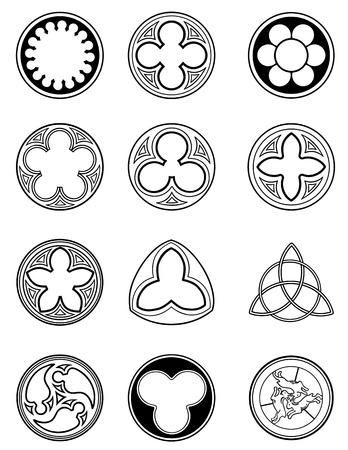 Element windows in gotische stijl
