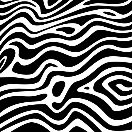 Zebra texture black and white Vector