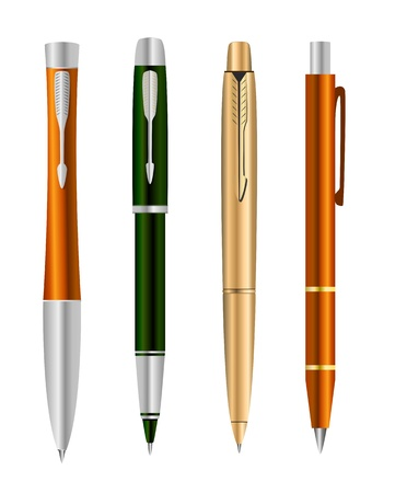 Vector illustration of set colorful pens Stock Vector - 9507881