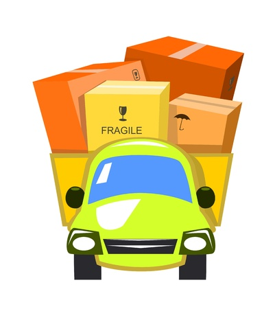 Vector delivery truck Stock Vector - 9507872