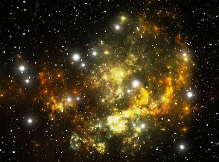 Colorful space star nebula Stock Photo - 9507979