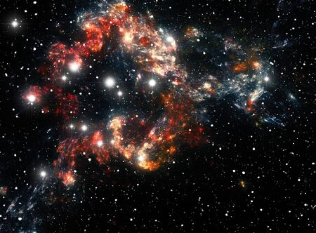 Colorful space star nebula Stock Photo - 9507984