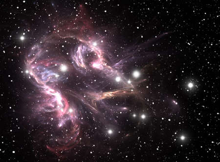 Colorful space star nebula Stock Photo - 9577314