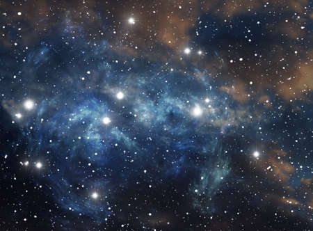 Colorful space star nebula Stock Photo - 9577304