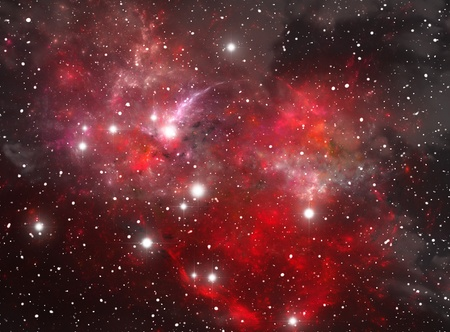 Red space star nebula Stock Photo - 9577306