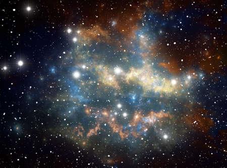 Colorful space star nebula Stock Photo - 9577311