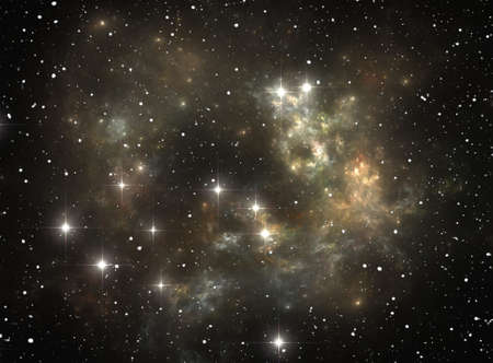 Colorful space star nebula Stock Photo - 9577303