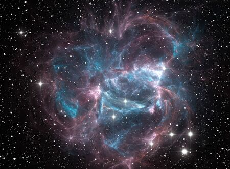 Colorful space star nebula Stock Photo - 9577313