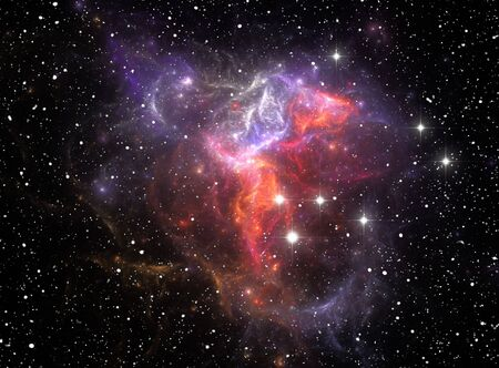 cluster: Colorful space star nebula Stock Photo
