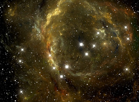 the universe: Colorful space star nebula Stock Photo