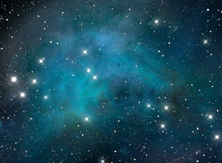 Blue space star nebula photo