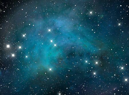 Blue space star nebula Stock Photo