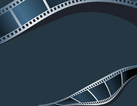 movie screen: Blank photo - video template, illustration Illustration