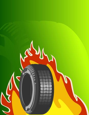 summer tire: Vector background of car design