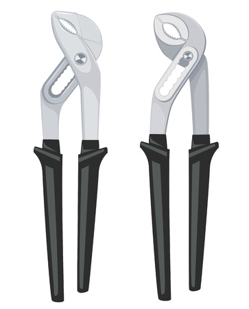alligator wrench: Two vector alligator wrench Illustration