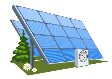 Solar panel Stock Vector - 9828569