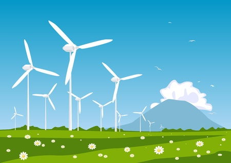 Wind turbine Stock Vector - 9828570