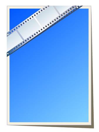 movie screen: Blank photo - video template, illustration Illustration