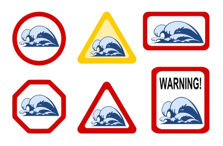 Danger nature - wave breaker Stock Vector - 10105627