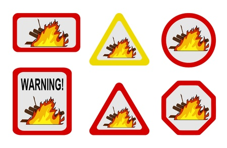 conflagration: Danger nature - conflagration, wildfire Illustration