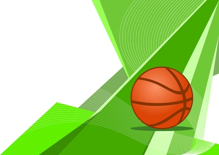 Basketball, abstract design Vector
